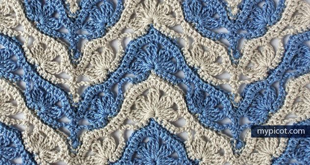 lovely pattern tutorial in various color combination ✿⊱╮Teresa Restegui http://www.pinterest.com/teretegui/✿⊱╮