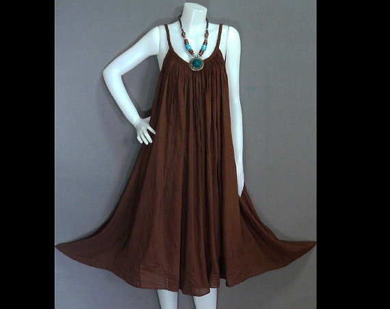 Hippie Bohemian Chocolate Brown Cotton Halter by HippieHomemade, $39.00
