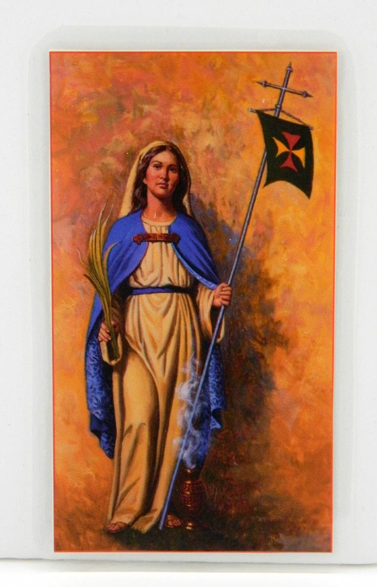 St. Odilia Holy Card With Prayer Crosier Fathers and Brothers Laminated 18553 by JacksonsMarket on Etsy
