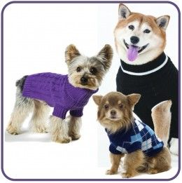 Dog Sweaters – Pretentious or Practical? http://chezchazz.hubpages.com/hub/sweaters-and-hoodies-for-dogs #pets #dogs