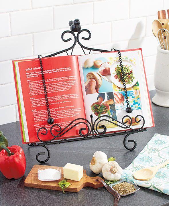 Cookbook Holder Kitchen Book Stand Metal Easel Recipe Cook