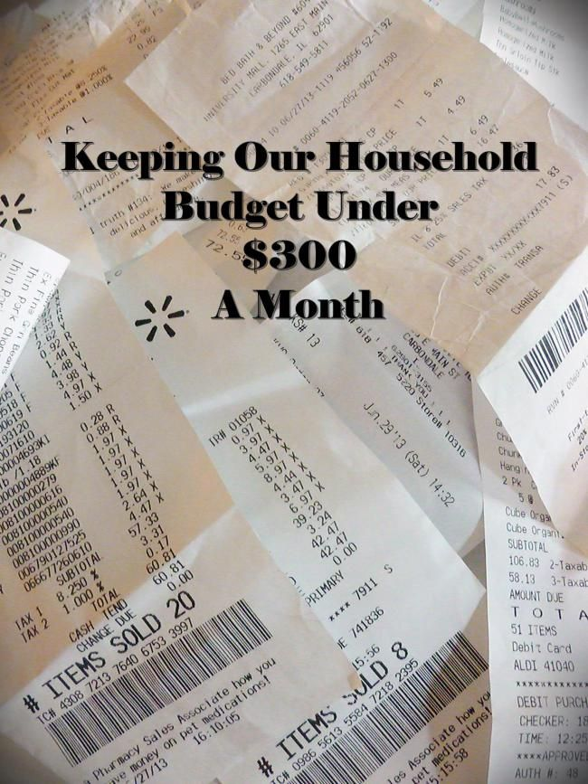 $300/ month budget tips- Link party on A Bowl Full of Lemons
