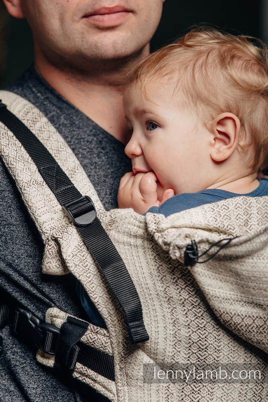 ERGONOMIC CARRIER, BABY SIZE, JACQUARD WEAVE 100% COTTON - WRAP CONVERSION FROM LITTLE LOVE - TIRAMISU, SECOND GENERATION