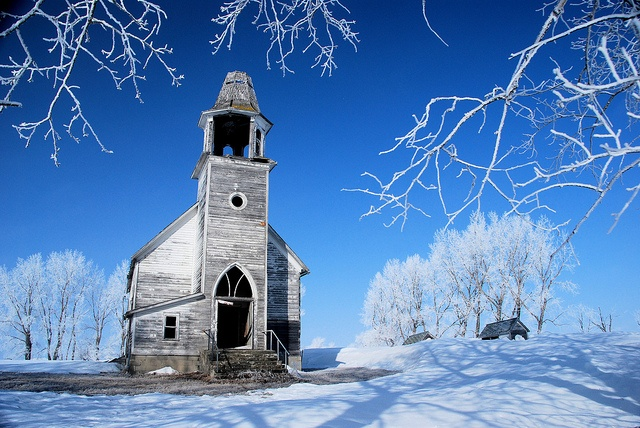 what used to be the Hurricane Lake Lutheran Church in rural Pierce County, ND.