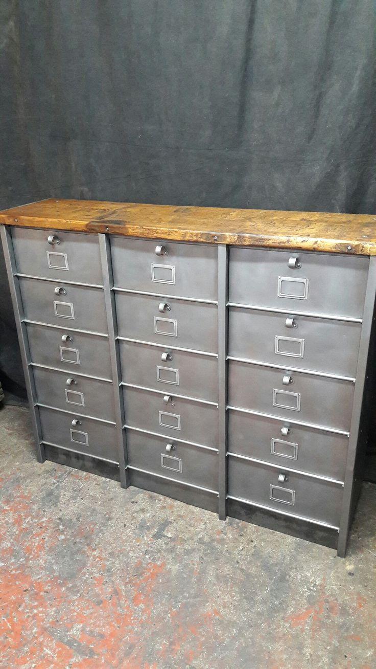 the 44 best images about meuble industriel design vintage fer ... - Meuble En Fer Design