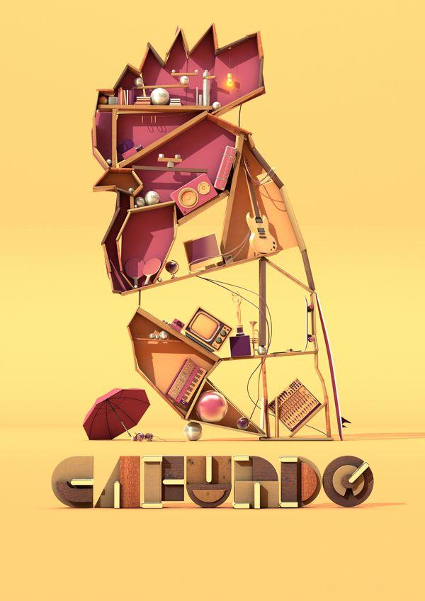 3D Design - 3D Typography - Modelling tumblr_n1cajediTC1qh2jkmo1_1280.jpg (600×848)