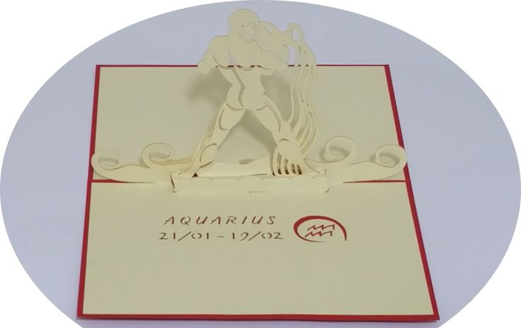 Aquarius 21 January –19 February - 3D Pop Up Cards - Greeting Cards - Ovid Gifts