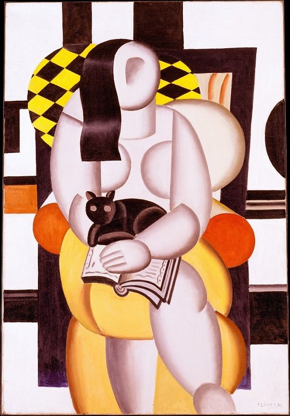 Fernand Léger (French, 1881-1955) – Woman with a Cat, 1921 (Oil on canvas. The Metropolitan Museum of Art) – Motionless and frontal, this colossal nude might be made of stone or metal, evoking at once a classical sculpture and a futuristic robot. While Léger's subject is rooted in European, particularly French, artistic traditions, his streamlined style reflects contemporary design aesthetics that the painter's friend, the architect Le Corbusier, advocated and popularized. - Németh György