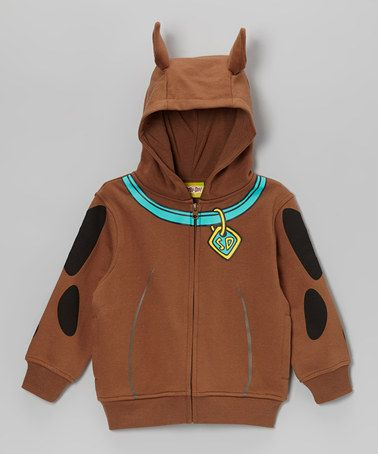 Take a look at this Brown Scooby-Doo Zip-Up Hoodie by Scooby-Doo on #zulily today!