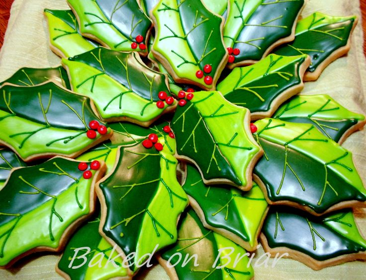 Detailed Holly Leaves by Baked on Briar