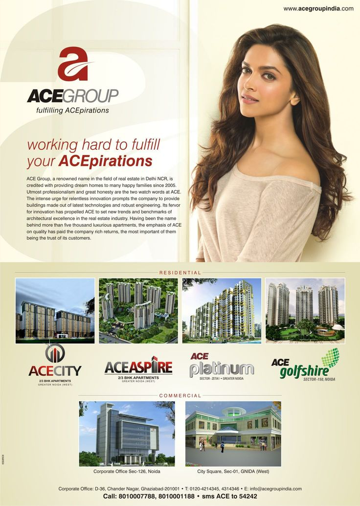 Below is the #AceGroup Full Page Jacket #AD which is released in Mail Today.Ace Group India Working Hard To Fullfill Your Acepirations