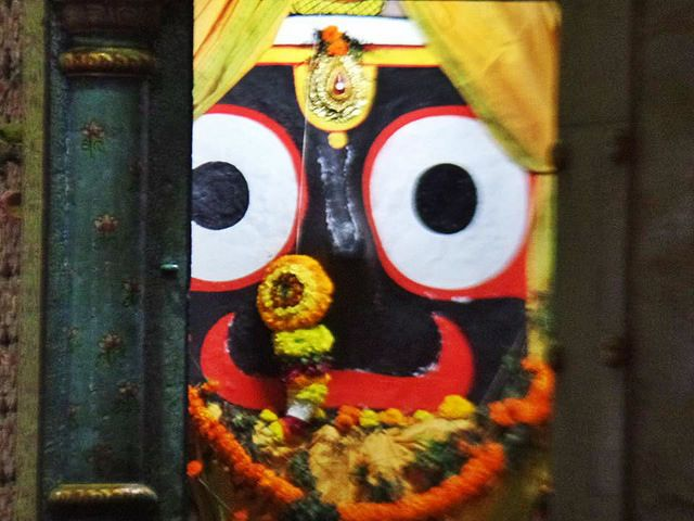 four idol of Lord jagannath inside jagannath temple PURIWAVES  PURIWAVES  Bhagbata Odiya  .