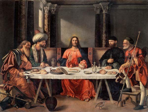 Image: Vittore Carpaccio - V.Carpaccio / Christ in Emmaus / Paint.