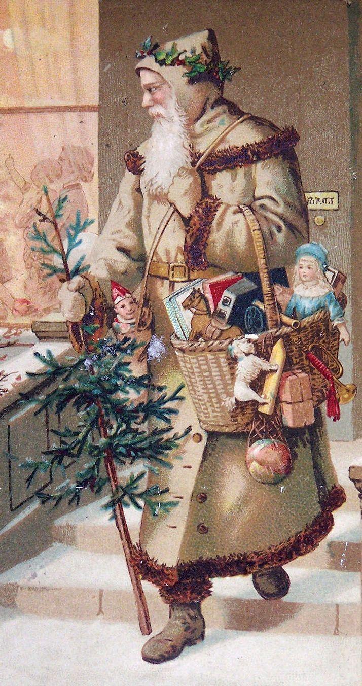 Christmas Santa Vintage Postcard