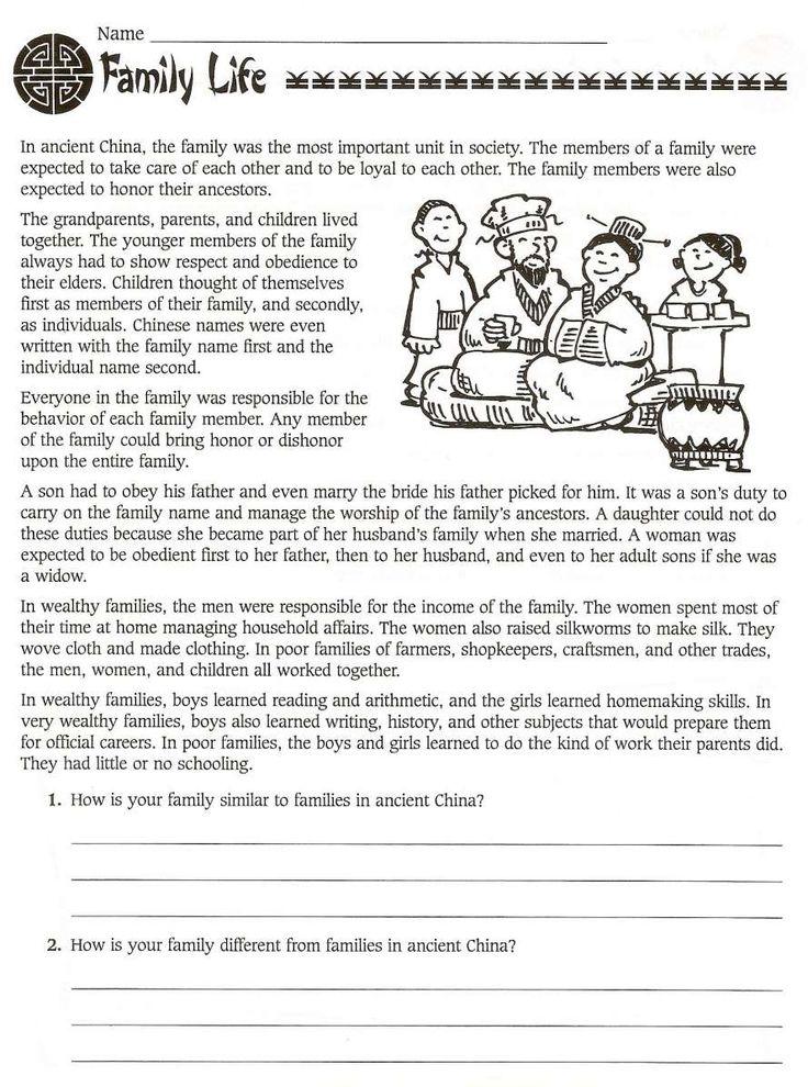 7+ China Worksheets For 2Nd Grade Grade 6th grade