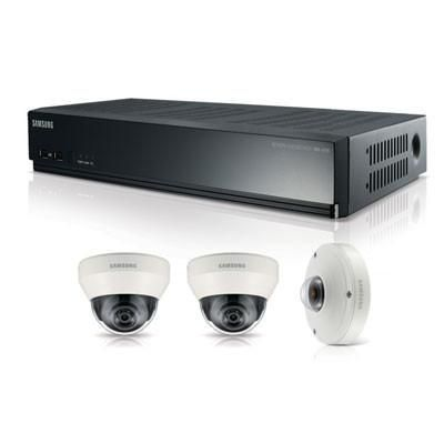 Samsung SRK-3030S Full HD 4 Channel IP Security Camera System Kit with POE