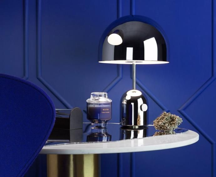 New From Tom Dixon Silver Black And Blue With Images Lamp Mid Century Table Lamp Cool Lighting