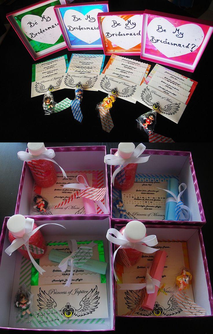 Coffrets pour demoiselles d'honneur thème Sailor Moon, extra ! <3