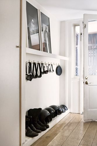 entry way shoe storage and hooks