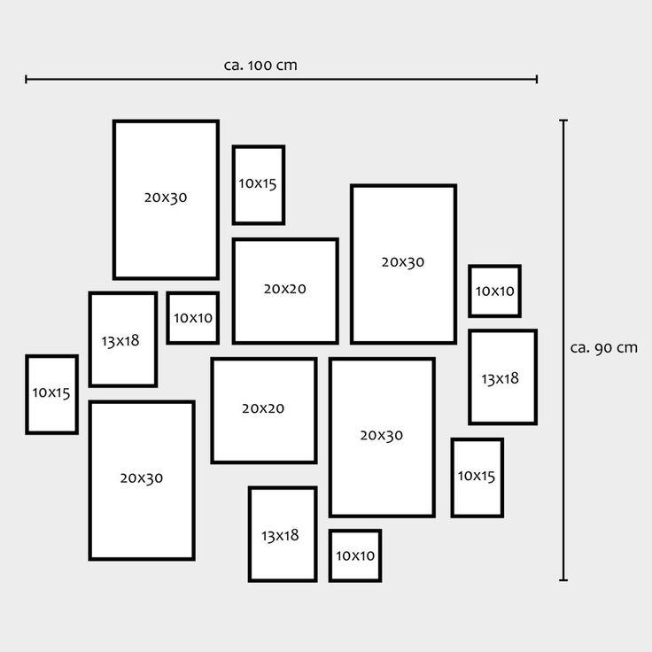 15er Set Bilderrahmen Weiss Modern Massivholz Größen 10x10, 10x15, 13x18, 20x20, 20x30 cm, inkl. Zubehör, zur Gestaltung einer Bilderrahmen Collage / Bildergalerie