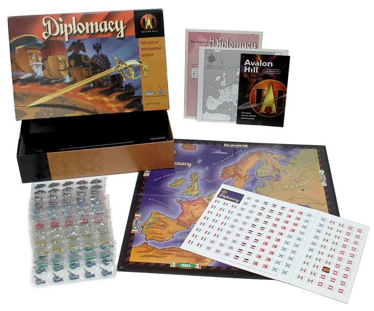 Diplomacy Board Game 1999 Edition Avalon Hill with Metal Pieces #AvalonHill