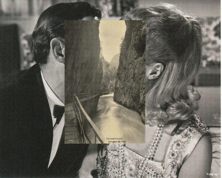Pair IV, 2007, from the 'Masks' series, by John Stezaker