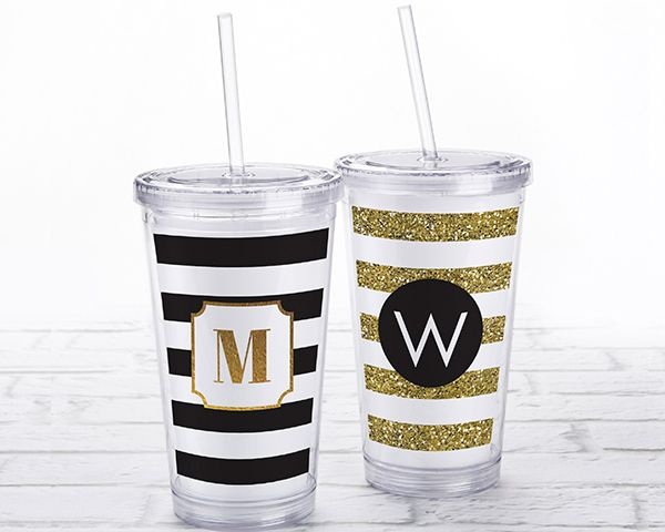 Classic Acrylic Tumbler with Personalized Insert | My Wedding Favors