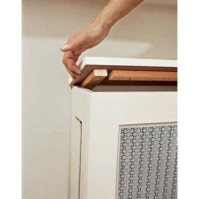 Build a radiator screen. Can use the top.