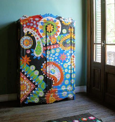 Buenos Aires artist Lucas Rise's paintings on furniture.
