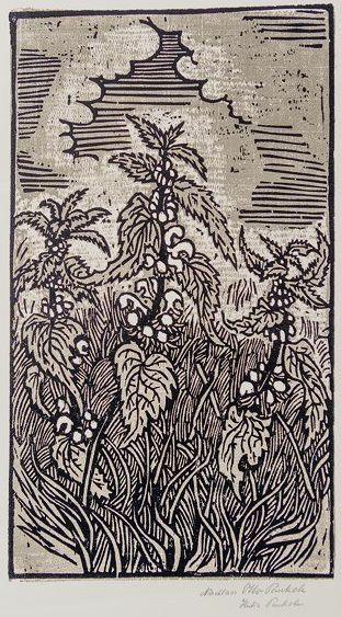 Otto Pankok, German (1893-1966) - Deadnettels ::: Taubnesseln, Woodcut on paper, early 20th C., 62 x 48 cm (Nachlass Otto Pankok, signed H~ Pankok)