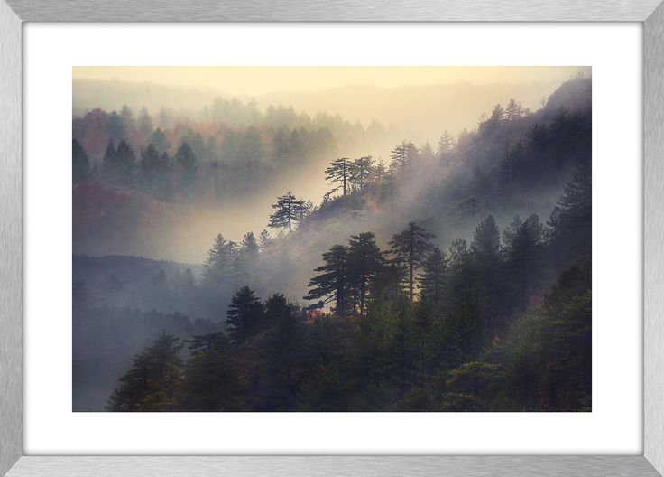 MISTY MOUNTAIN | Landcape photography, mountain, mist, deep forest, Greece, wall art, fine art print, canvas prints by KBphotostudio on Etsy