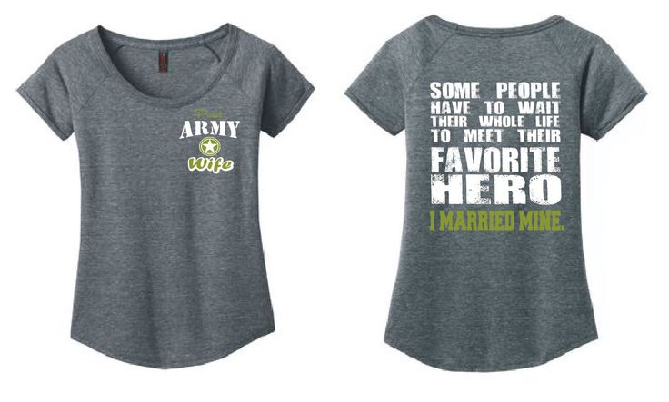 US Army Wife Ladies Scoop Neck T Shirt Army Wife Shirt Favorite Hero I Married Mine Us Army Girlfriend US Army Gifts US Army Mom Vet dm443 by GenesisInk on Etsy https://www.etsy.com/listing/290630447/us-army-wife-ladies-scoop-neck-t-shirt