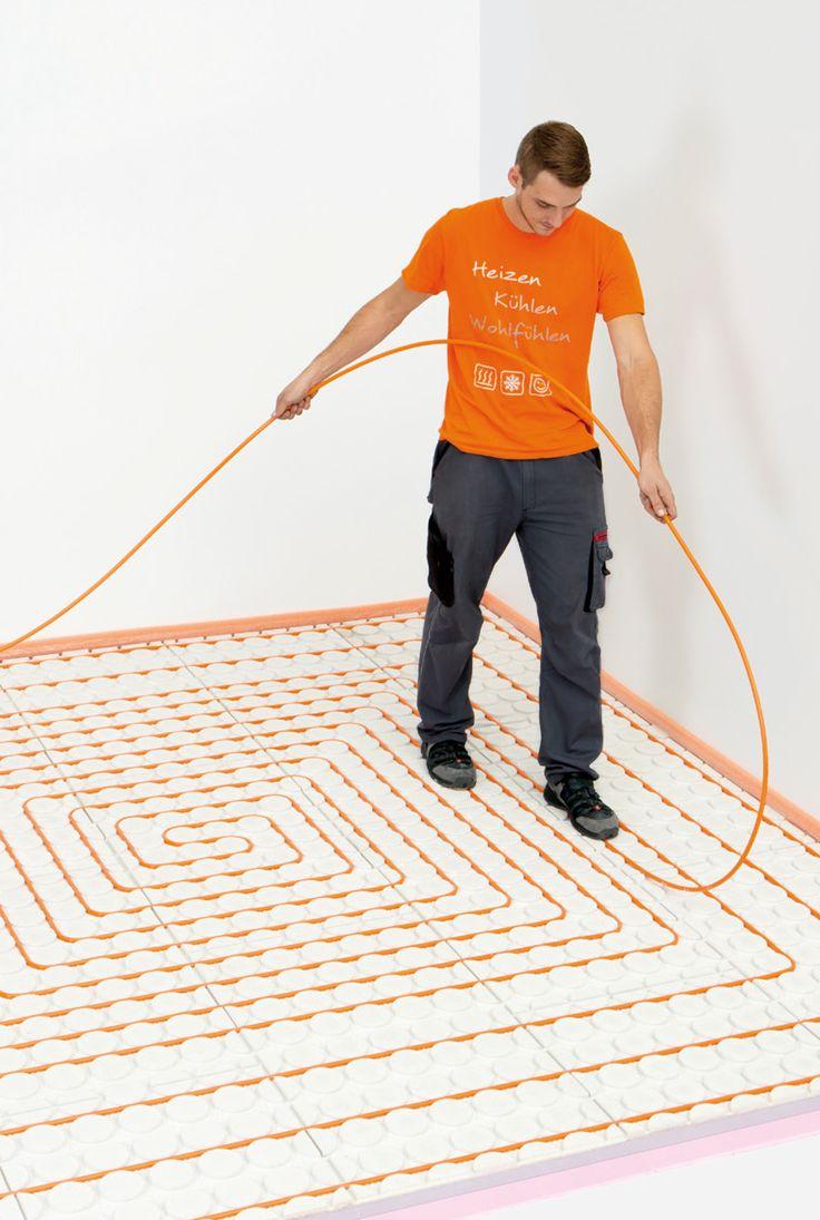 Vloerverwarming die snel, schoon en eenvoudig is te installeren