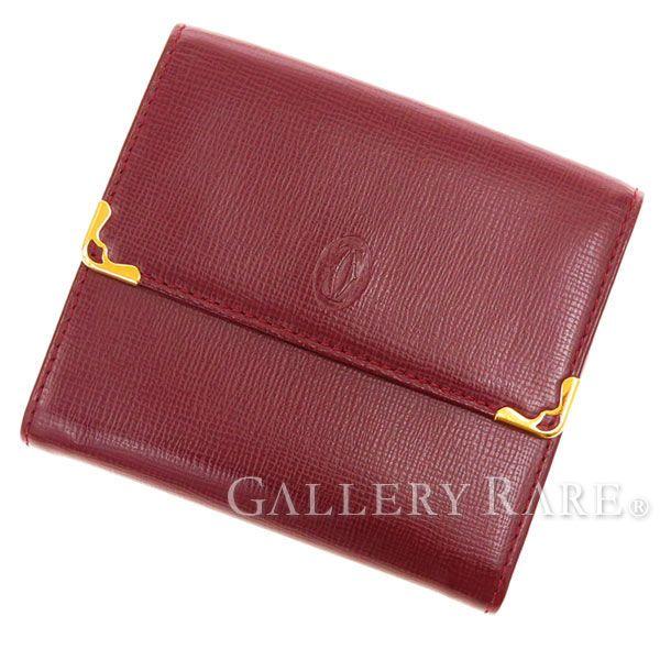 カルティエ 財布 マスト・ドゥ・カルティエ Wホック財布 L3000221 Cartier メンズ 財布