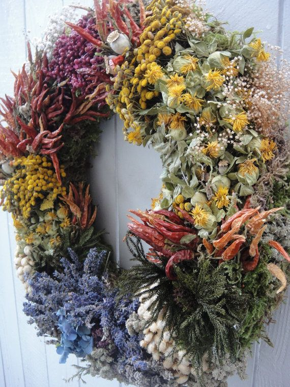 Kitchen Wreath   Herb Wreath   Lavender Wreath  by donnahubbard, $150.00