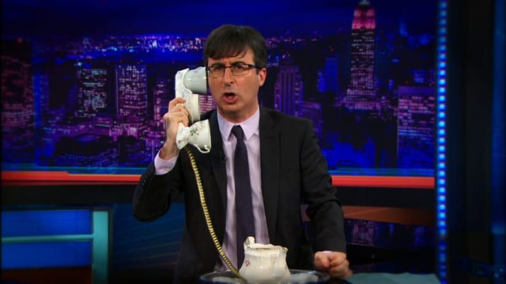 And, of course, John Oliver. | Who basically imported The Daily Show to HBO with Last Week Tonight. We also have Stewart to thank for Rachael Harris, Al Madrigal, Demetri Martin, Lewis Black, Samantha Bee, Aasif Mandvi, Beth Littleford, Rob Riggle, and John Hodgman.