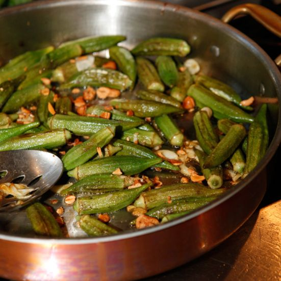 Okra and cashews are central to Brazilian cuisine; here the vegetable is lightly sautéed with slivers of garlic and tossed with the nuts for a great ...