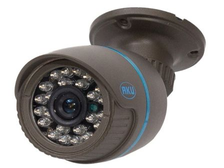 Camera supraveghere video AKU interior/exterior AHD 1MPxl infrarosu (IR) cu suport    Senzor imagine  1/4 CmosRezolutie  1MPxl ; 720PInfrarosu  24 led-uri 4mmIluminare  F1.2 / 1.0 LuxLentila  3,6mm; Marime Imagine  1280(H) X 720(V)Iesire video  BNC 1 Vp-p / 75 Ohms ΩAlimentare  DC12V±10%; 700-750mA.Temperatura functionare  -20 °C ~ 50 °C