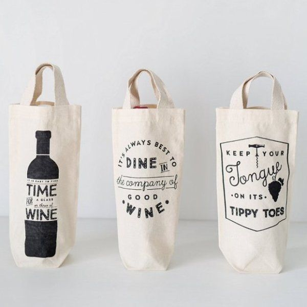 Wine totes (various designs)