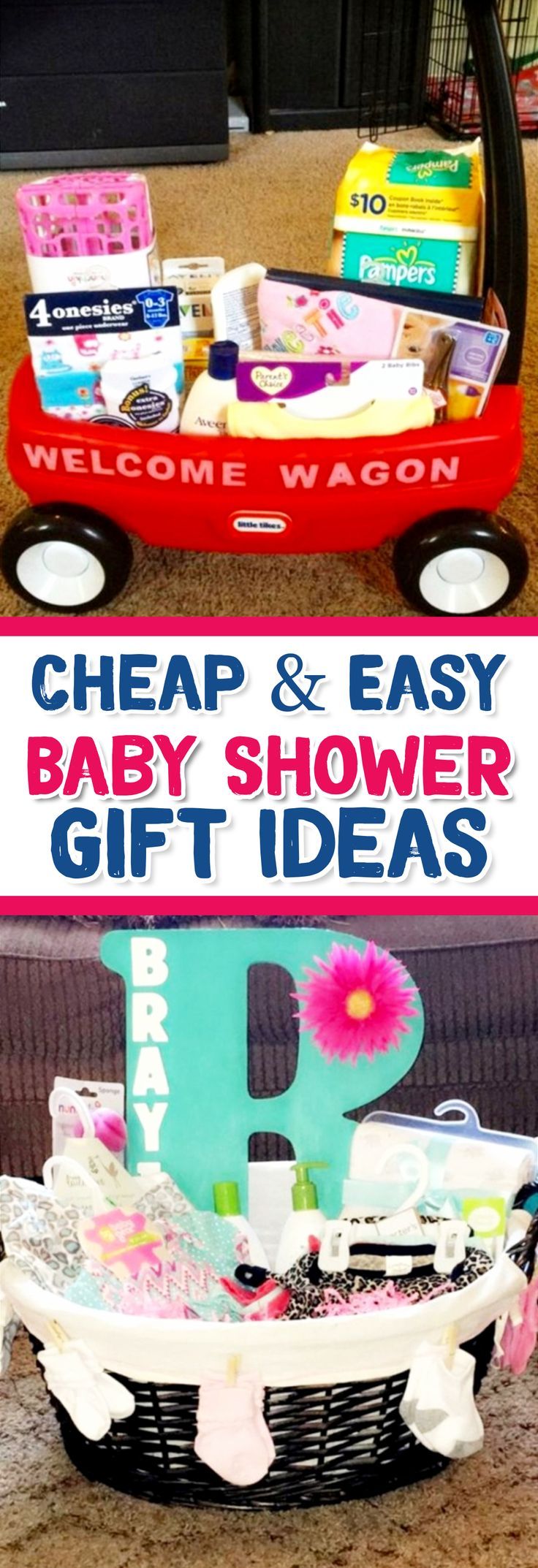 Baby Shower Gift Ideas - Cheap & Easy DIY Baby Shower Gifts for Boys and For Girls (gender neutral baby shower gift ideas too)
