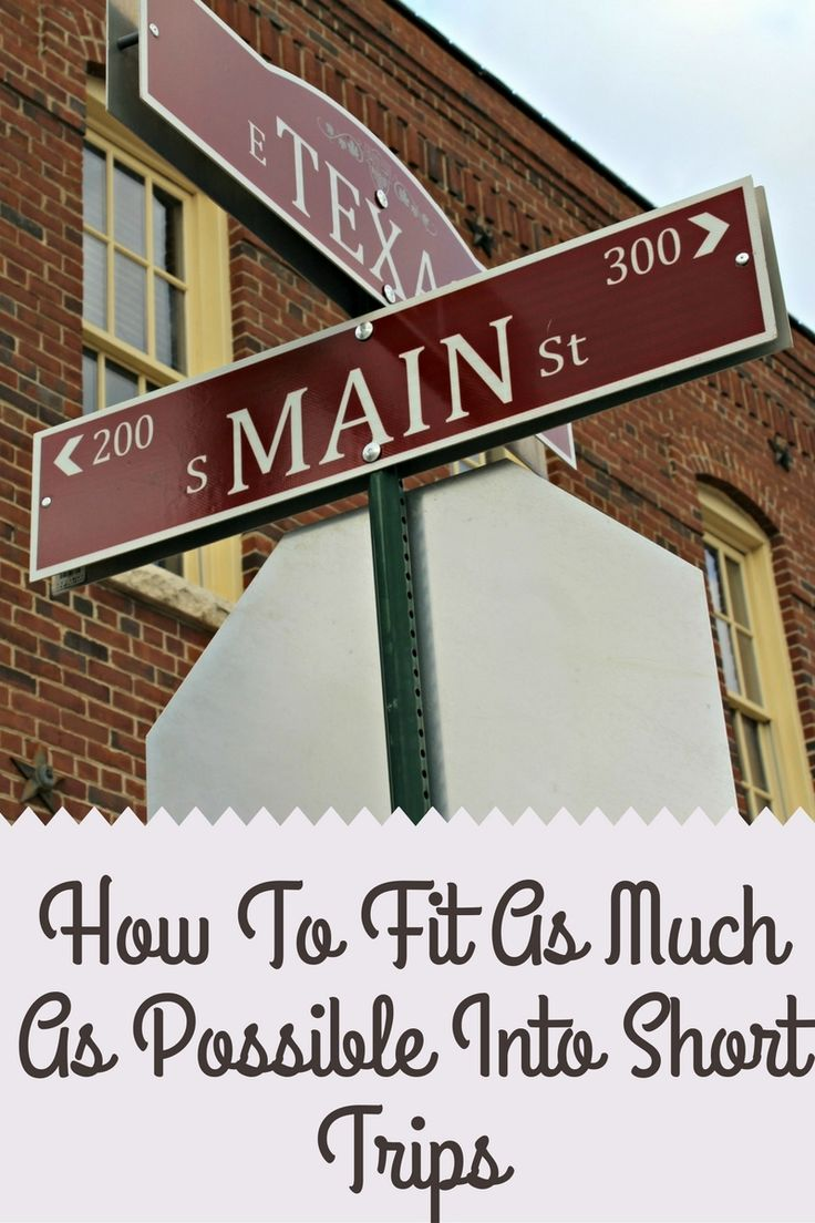 This guide explaining how to fit as much as possible into a short trip will leave you stress free, and ready for a (short) vacation.
