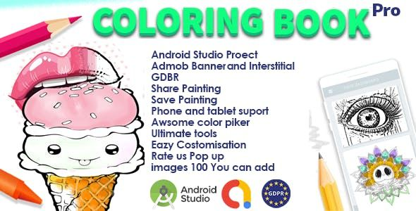 Coloring Book And Drawing Tool Android Studio Admob Gdpr Nulled Free Download Coloring Books Android Studio Drawing Tools