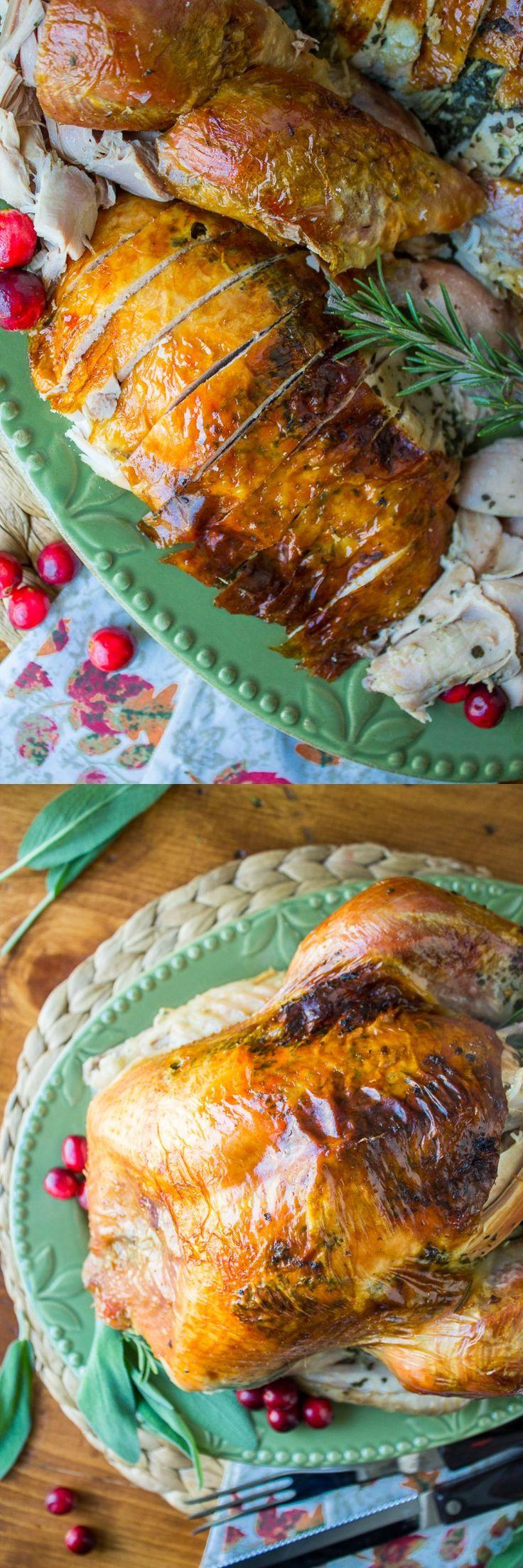 ... Roasted Turkey, Turkey Sage, Butter Roasted, Sage Butter, Beginner
