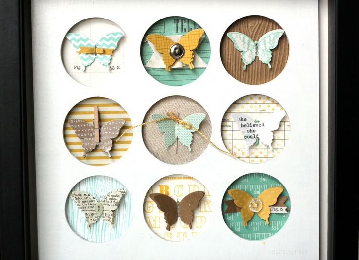 Butterfly shape from Stampin up! is paired with some favorite stamps and papers and framed.