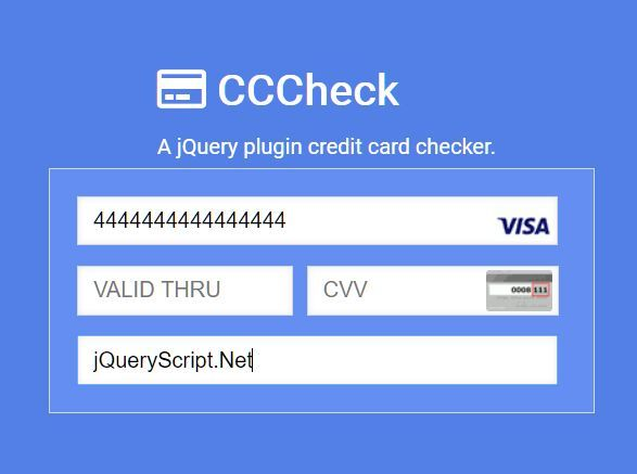 Create A Beautiful Payment Form With Credit Card Check Plugin Credit Card Credit Card Checker Plugins
