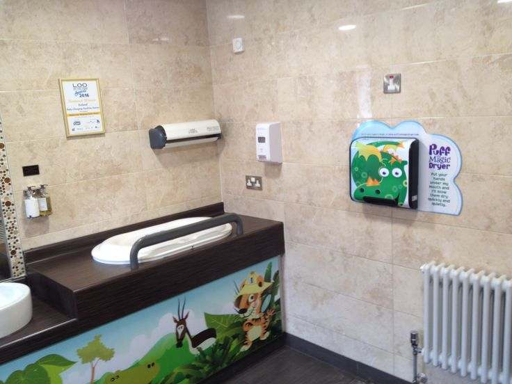 Puff the Magic Dryer. Children's Hand Dryer Low Noise Hand Dryer Installed at 'Loo of the Year' Winner Buttercrane Shopping Centre.