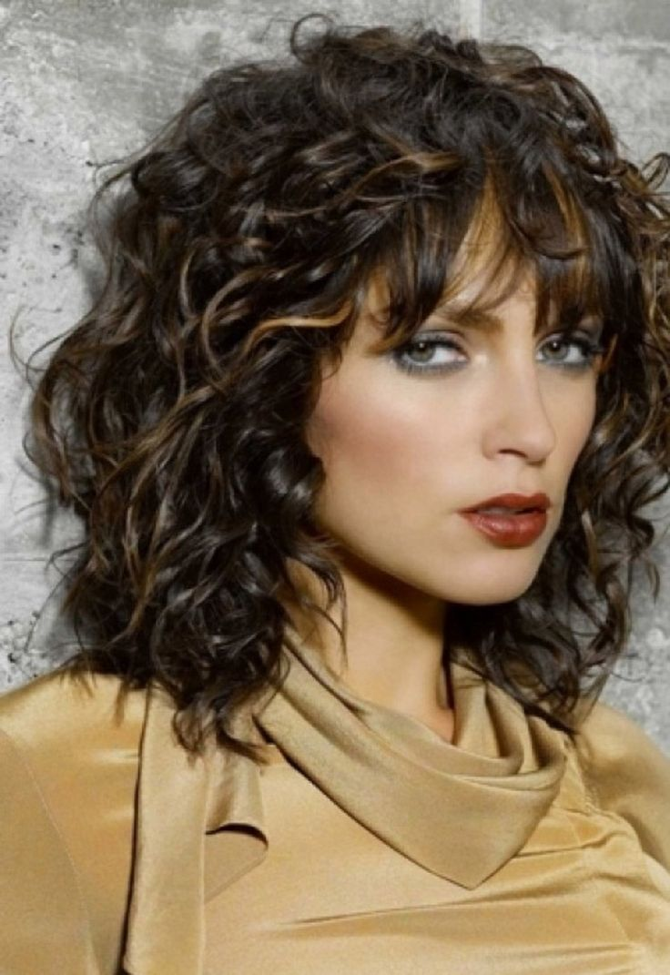 Medium Naturally Curly Hairstyles with Bang | 2014 Medium Hairstyles Ideas