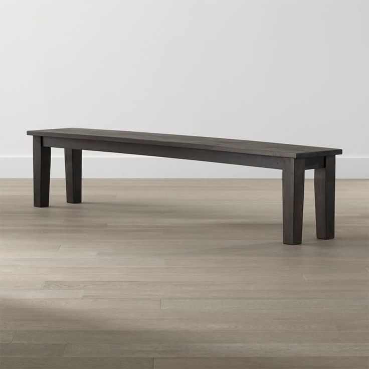 "Shop Basque Java 84"" Bench.   Planks of sustainable solid mango wood are hand-planed, detailed with peg detail and stained a deep java brown.  Each oversized bench is waxed to a soft glow that allows the natural grain and knots of the wood to show through."