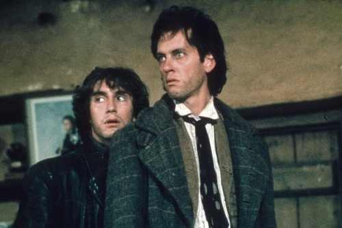 "Withnail (Richard E Grant) and I (Paul McGann) live in a squalid flat in Camden where in the first scene, there's a discussion about the washing up. ""Right, you fucker. I'm gonna do the washing up."" ""No, no, you can't. It's impossible, I swear. I've looked into it. Listen to me! Listen to me! There are things in there. There's a tea bag growing."" ""You haven't slept in hours. You're in no state to tackle it."""