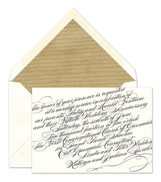 flourish script invitation for wedding wedding invitations by vera wang - Vera Wang Wedding Invitations